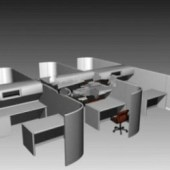 Multiplayer Office Free 3dmax Model
