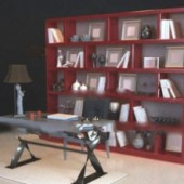 Chinese Bookcase Free 3dmax Model