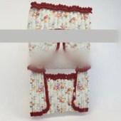 Free 3dmax Model Girl Flower Curtain