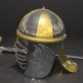 Helmet & Sword Weapon