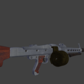 Mg42 Gun High Poly