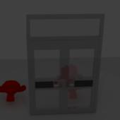 Glass/metal Door