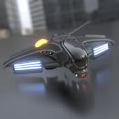 Intergalactic Spaceship In Blender 2.8 Eevee