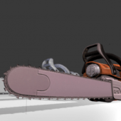 Chainsaw Animated Lowpoly