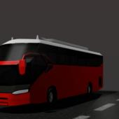Bus Setia Negara Low Poly