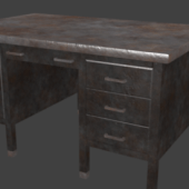Rustic Metal Desk