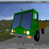 Homemade Low Poly Truck