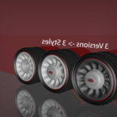 Hotrod Car Wheel Pack
