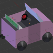 Lowpoly Simple Toy Car