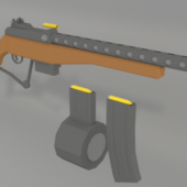 Low Poly Gun Weapon
