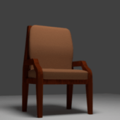 Low Poly Wood Chair