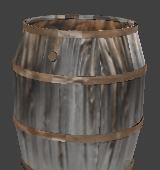 Old Wreck Wooden Barrel