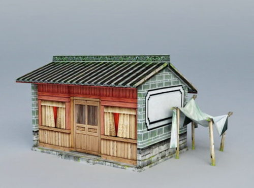Ancient Old Hinese Cottage House