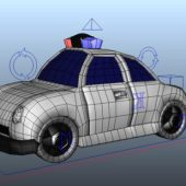 Cartoon Car Police Wagon Rig