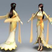 Character Traditional Chinese Anime Girl