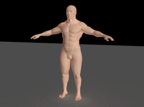 Muscle Man Character