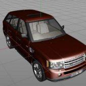 Red Range Rover Car