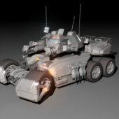 Weapon Sci-fi Combat Tank