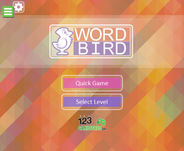 Play game Word bird   Free online word puzzle games Game Word bird