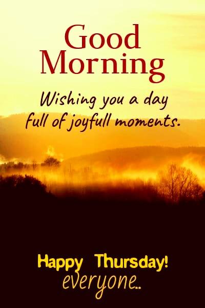 Good Morning Thursday