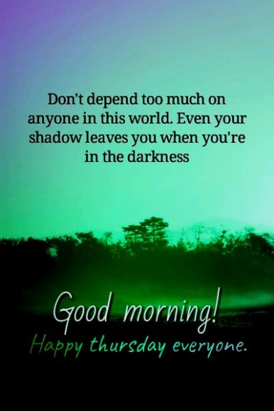 Good Thursday Morning Quotes