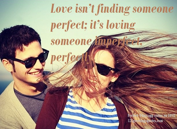 perfect whatsappquote on love image as profile picture