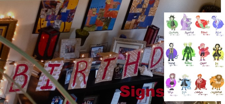 Birthday Signs - Happy birthday Zodiac signs
