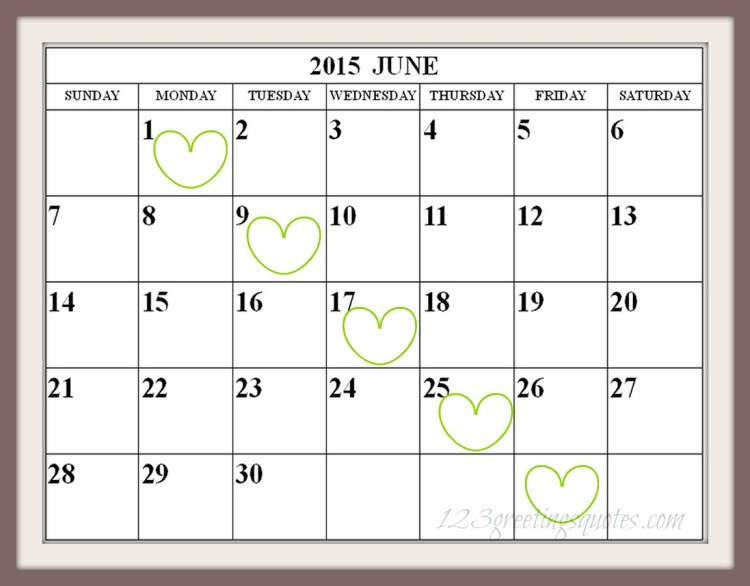 Free Printable June-2015-Calendar-easy-print