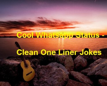 Cool Whatsapp Status - Clean One Liner Jokes