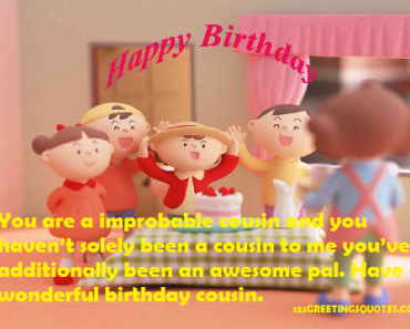 birthday WISHES TO cousin