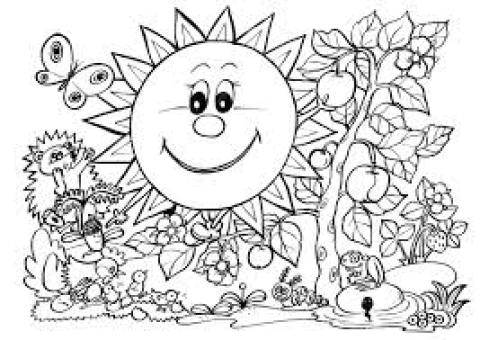 spring coloring pages for kids to print