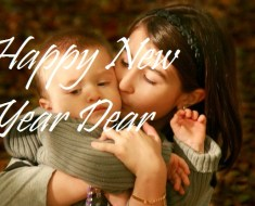 New Year 2016 greetings to cute Sister & Brother