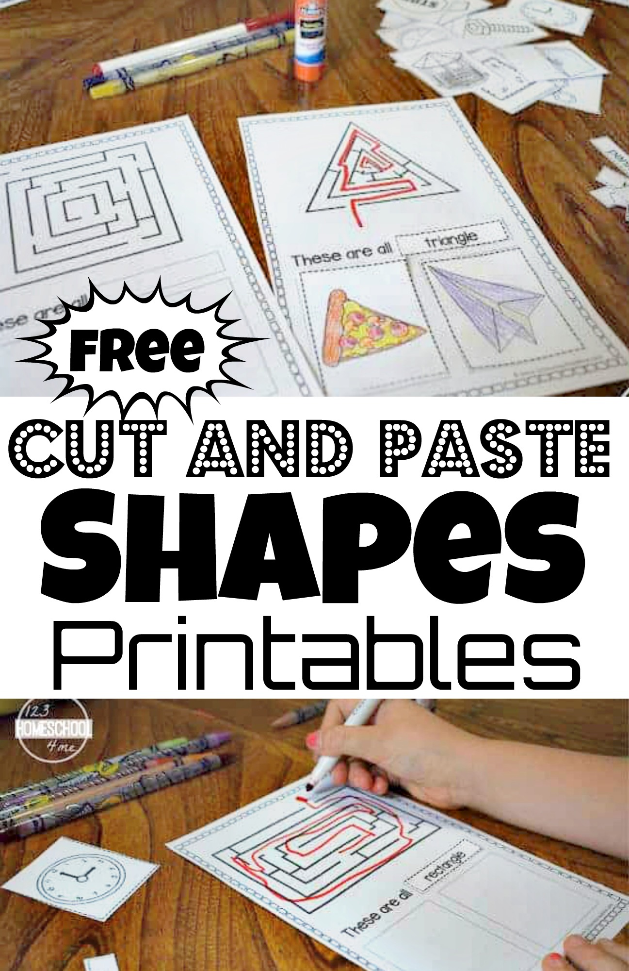The best free set of alphabet worksheets you will find! Free Printable Cutting Shapes Worksheets