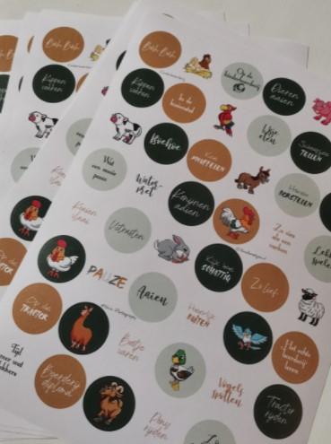 kinderboerderij stickers