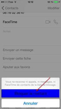 Comment bloquer un contact iphone 123itech - Comment ne plus recevoir de coup de telephone publicitaire ...