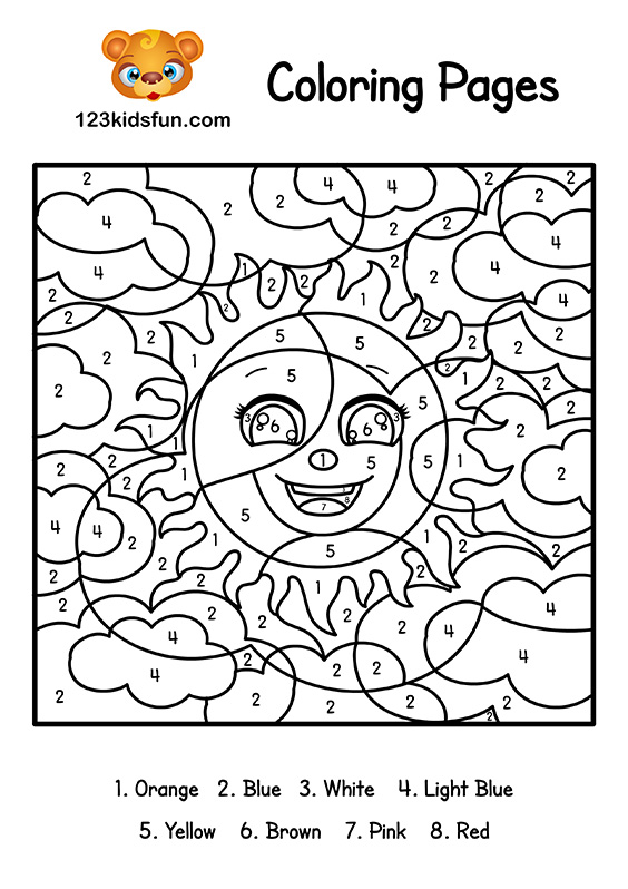 coloring pages by number # 75