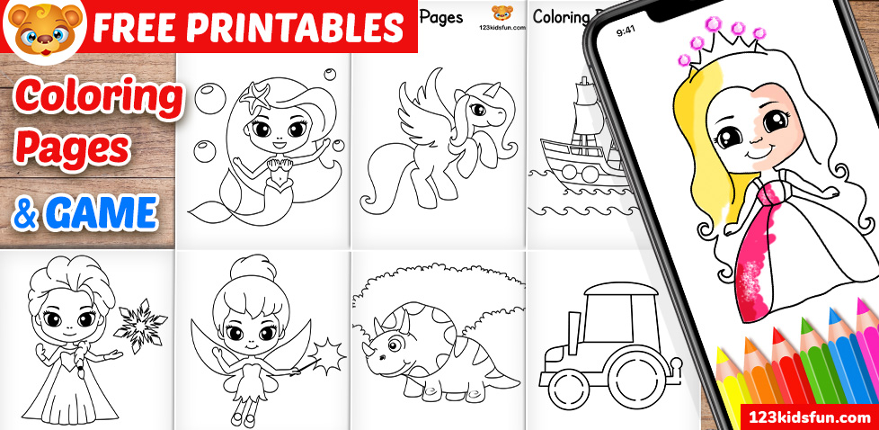 Free Printable Coloring Pages for Kids and Toddlers | 123 ... | free coloring pages  format for toddlers