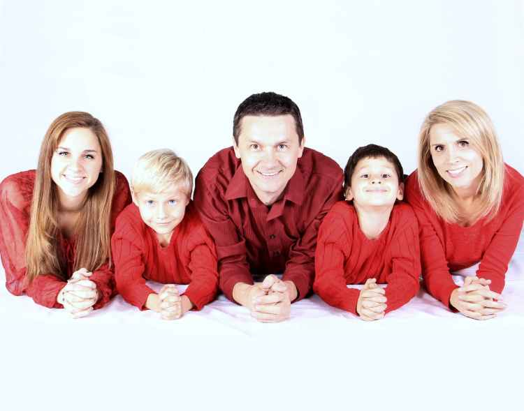 children daughter family father