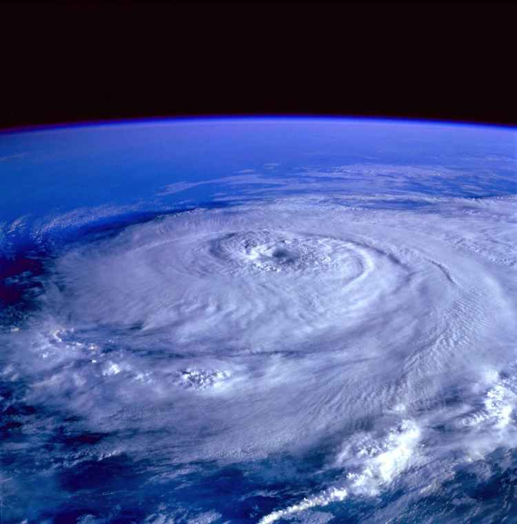 eye of the storm image from outer space