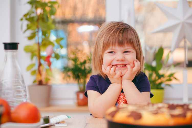 photo of toddler smiling