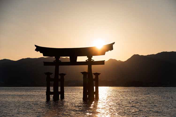 silhouette of a person standing on a wooden dock during sunset