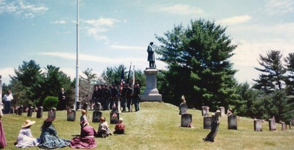 1995 130th Anniversary in Salem NY, Evergreen Cemetery Standing Soldier monument