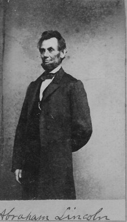 carte de visite of President Abraham Lincoln