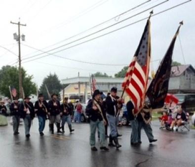 Civil War parade