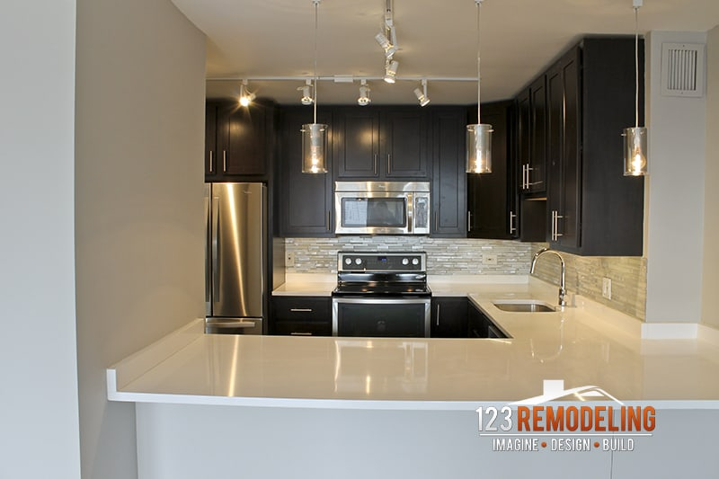After Condo Kitchen Remodel - 1030 N State St, Chicago, IL (Gold Coast)