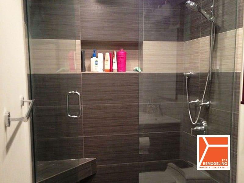 After Condo Guest Bathroom Remodel - 100 E Huron St, Chicago, IL (River North)