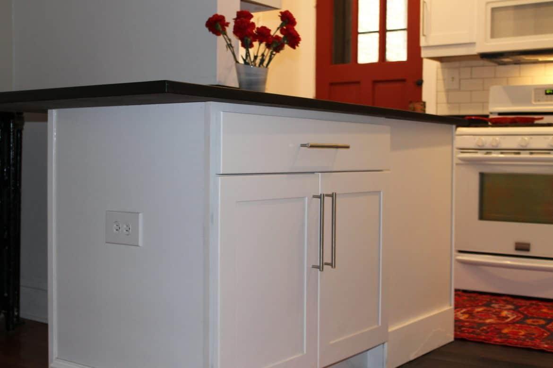 countertop island kitchen remodel