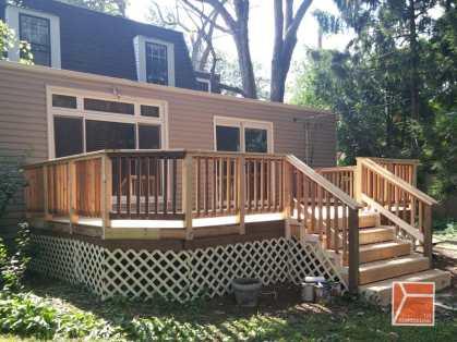 edgebrook wooden deck renovation