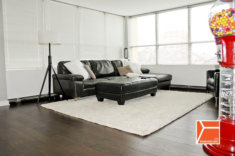 condo remodeling floor hardwood tile