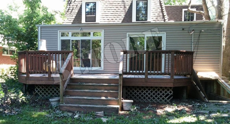 edgebrook wooden deck replacement